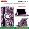 Made in china Swivel bracket tablet leopard case for ipad mini 2 3 Pretty Leopard holder cover