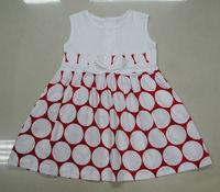 Hot sales sleeveless pique girl's dress
