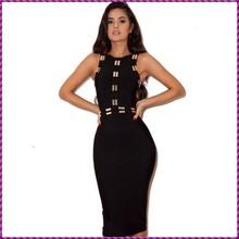 sequin bodice slim gothic gaun o neck knee long one piece black dress