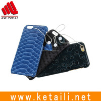 2015 fashion design PC phone case with leather surface for iphone 6