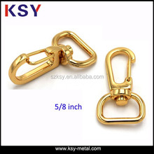 Shiny gold bag accessories metal snap hook