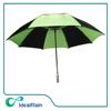 green black color manual open air vent large golf umbrella