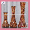 fabricant crackle mosaïque de verre vase cylindre