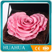 love heart shape gift shape preserved rose for women gift