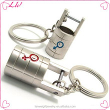 2014 fashion wholesale key chain popular metal key chain lovers key chain