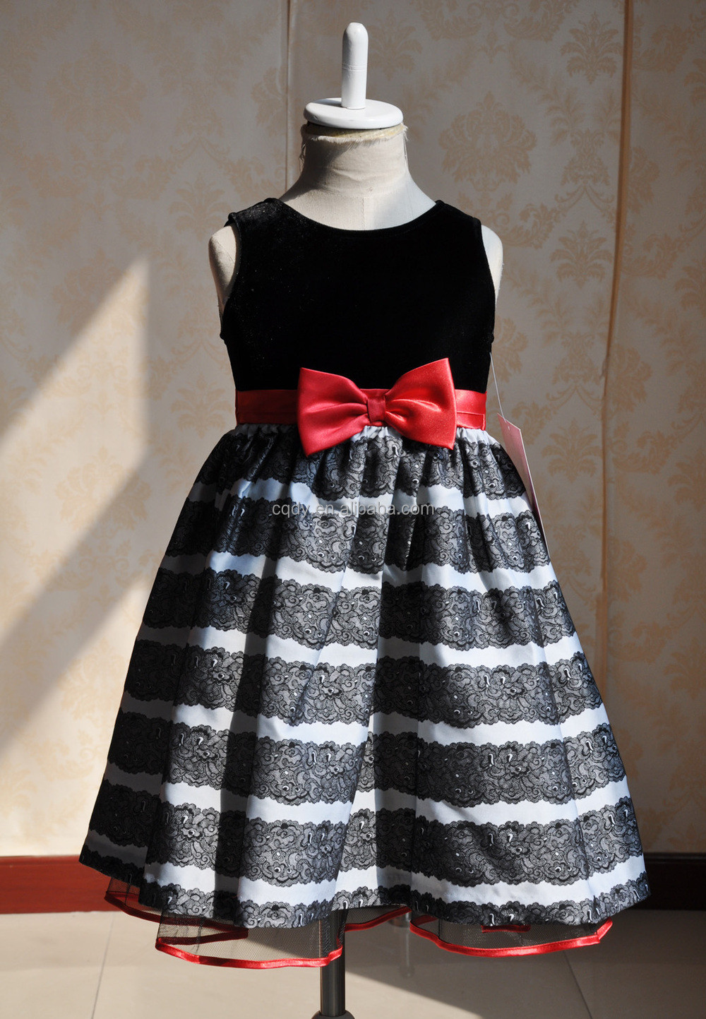 Wholesale Oem Baby Dress Designs,Black And White Stripe Kid Ball ...