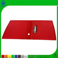 PP cover 2D ring metal clip plastic folding file folder, for office use