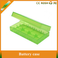 Cheapest Plastic Battery Case Box Holder Storage Container electronic cigarette 18650 battery double case