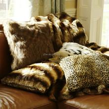 best home fashion faux fur pillow