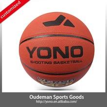 custom leather pu basketball factory YN-007 YONO branded wholesale basketball OEM service