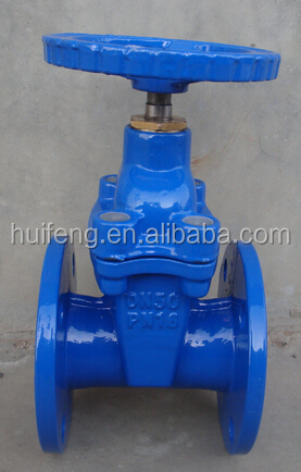 rubber resilient seat non-rising stem gate valve