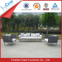 Contemporary exotic sofa rattan stylish furniture with aluminum frame