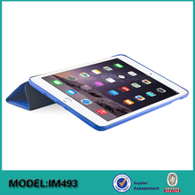 Back PC with Rubber coating PU case cover for iPad mini 4 7.9 tablet