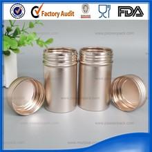 Golden empty aluminum custom pop cans