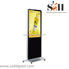 """55"""" 1080p full hd wifi network touch screen lcd screen from professional ad device manufactory"""