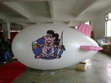 Small 4m custom inflatable PVC blimp for advertising