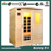 2015 KL-3SF new wood dry far infrared sauna room