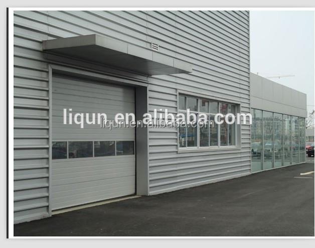 Horizontal sliding plexiglass garage doors with aluminium