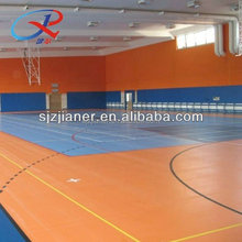 Multi Indoor PVC Sport Floor Basketball/Netball/Volleyball