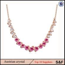 Cristal checo libre del níquel de la joyería de China aleación de cristal collar de la mujer
