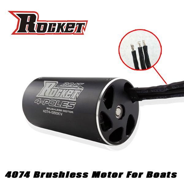 Powerful 4-Poles 4074 1550kv Electric Brushless RC Boat dc Motor for sale