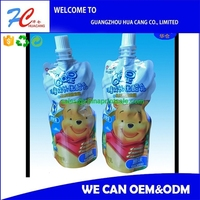 customized design spout pouch for liquid packaging high quality
