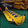 Single tube inflatable water banana boat inflatable flying fish banana boat for sale