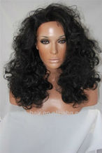 In stock wholesale human hair full lace silicone wigs