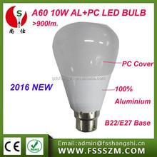 2016 new product 10w b22 led bulb ,hotsell alibaba websize aluminium led bulb,900lm EMC LVD LED Bulb