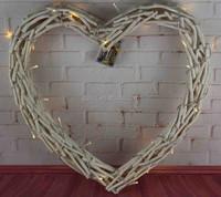 Christmas decoration LED heart shaped decorative wreath
