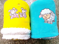 100%polyester coral & sherpa fleece wholesale baby toys newborn babies blanket
