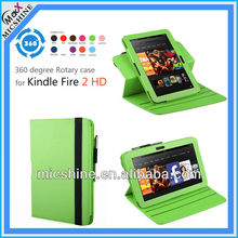 for Amazon Kindle Fire HD 7 Rotation leather case cover 11 colours