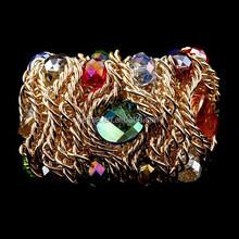 Fashion gold chain crystal bead bracelet BR-04094