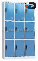 Cheap staff clothing nine door metal steel locker in India market