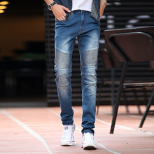 New wave of young men Slim stretch pants feet jeans men men's trousers Supplying