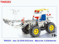 metal diy construction truck, metal truck assemble toy for kids/139pcs