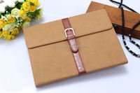 2015 Stylish Retro bag business design with belt clip leather case leather case for ipad air 2 made in china