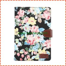 Luxury Colorful Floral Cloth Magnetic Tablet Flip Leather Case For Ipad Mini 4