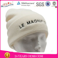 2013 Custom Embroidery Hand Knit Fashion Winter Hat