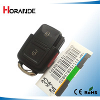 for VW Polo Passat B5 B6 golf 4 5 6 Touran Bora Jetta 2+1 4 Buttons Replacement Car Key Shell with Red Panic Button