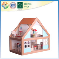 Small wooden house is favorite play house baby room