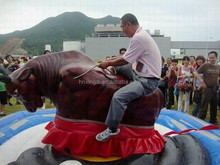 china professional manufacturer bull rides amusement rides electric inflatable bull for sale