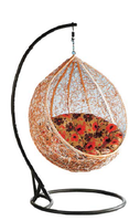 Two year warranty outdoor clear hanging egg chair with stand