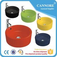 Fashion color sanitary ware Ceramic wash basin for bathroom