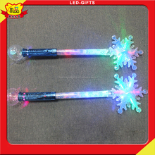 Snowflake Design Colorful Magic Stick Series Of Party Plastic Flashing Wand From Shenzhen Manufactory