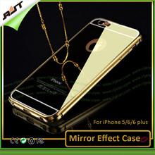 24K gold All in one Luxury Aluminum metal mirror phone case for iPhone,mirror case for iPhone 5/6/6plus