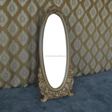 Modern design gold free standing mirror in bedroom and dressing