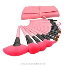 Professional 24 piece human made make up brush