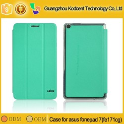 Factory sale new style folio leather case for asus fonepad 7 ( fe171cg )