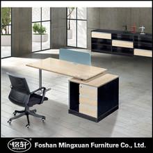 KTB0118 ikea style moon shape metal base executive office desk